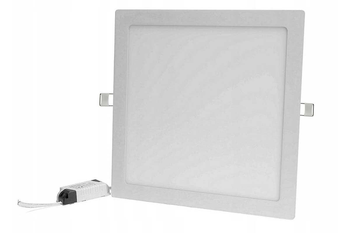 Panel LED podtynkowy kwadrat 18W