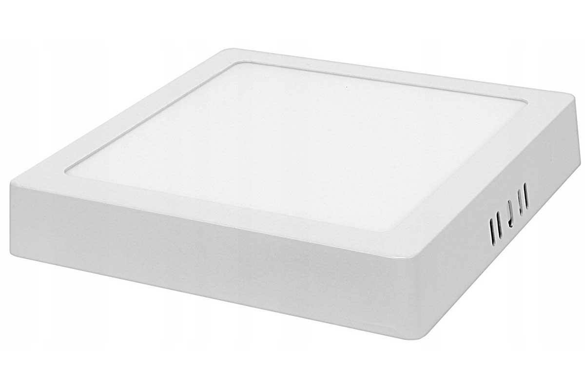 Panel LED natynkowy kwadrat 12W