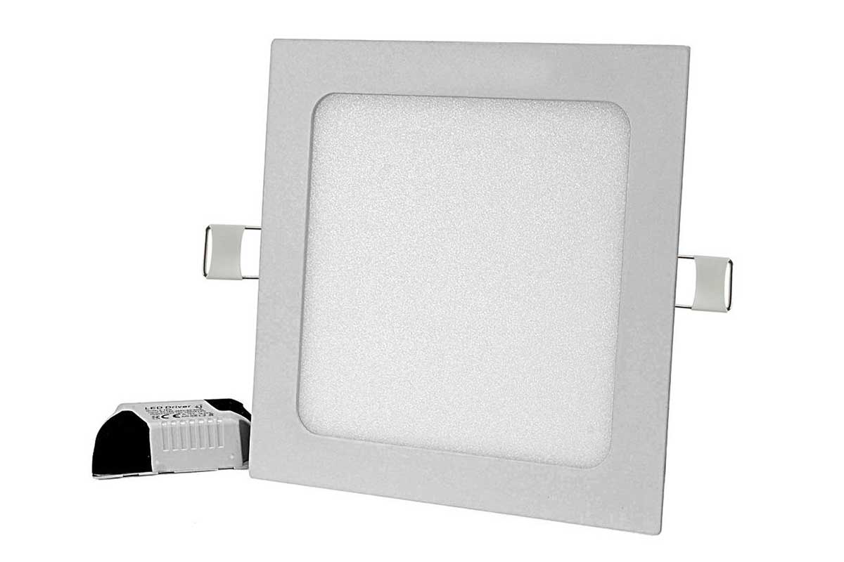 Panel LED podtynkowy kwadrat 12W