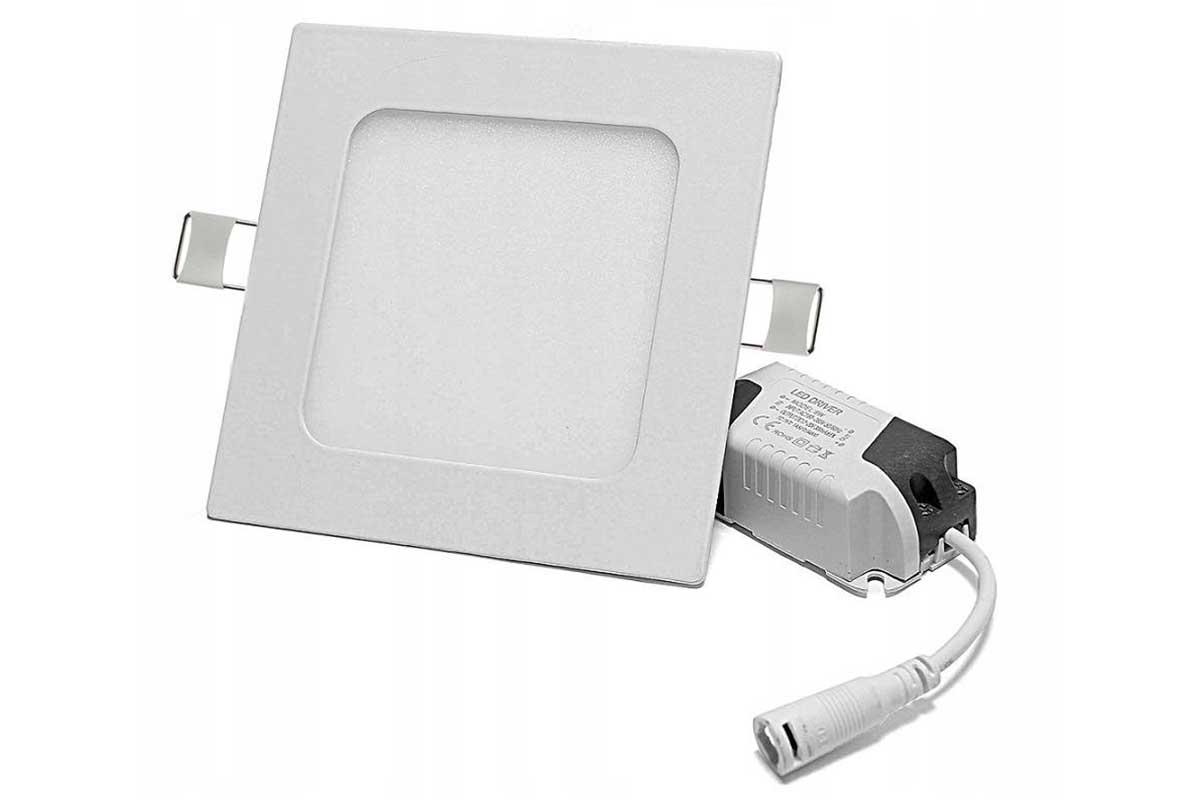 Panel LED podtynkowy kwadrat 6W