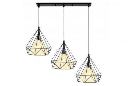 Lampa wisząca Loft Diament x3 Prosta