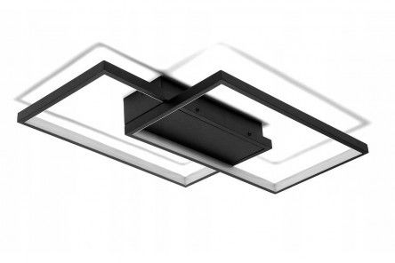 Lampa LED na sufit, kolor czarny 48W